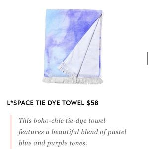 New L*Space  Cotton Tie Dye Beach Towel